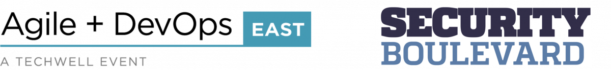Agile + DevOps East and Security Boulevard logo