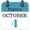 Expires October 4, 2019